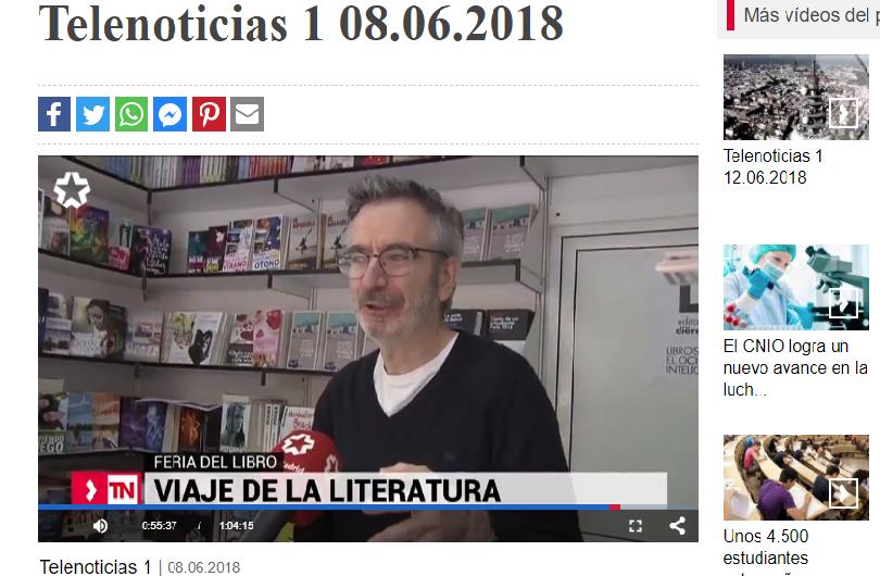 Entrevista en TeleMadrid sobre libros de viajes
