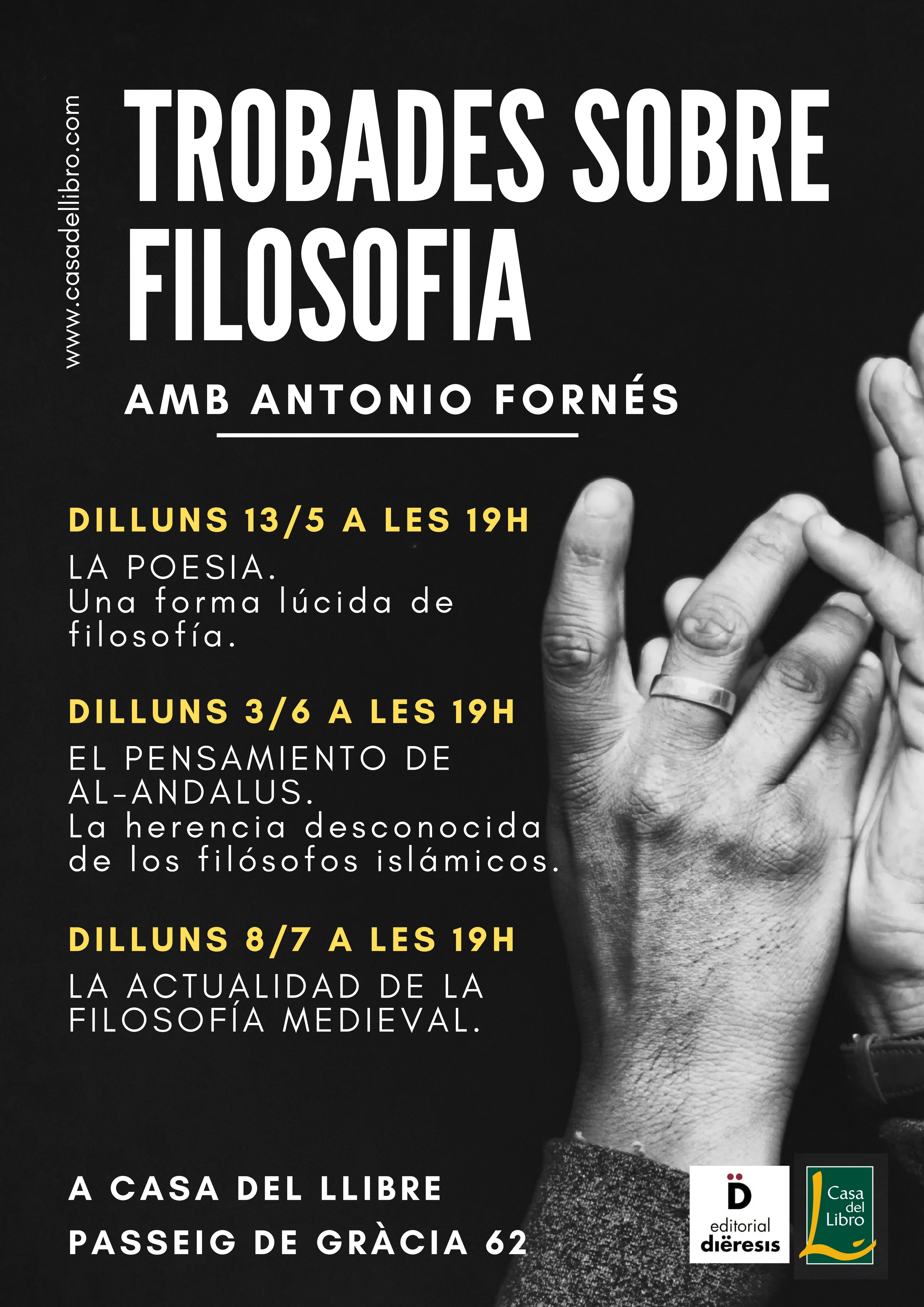"""No te pierdas los próximos """"Encuentros filosóficos"""" de Antonio Fornés en Casa del Libro"""