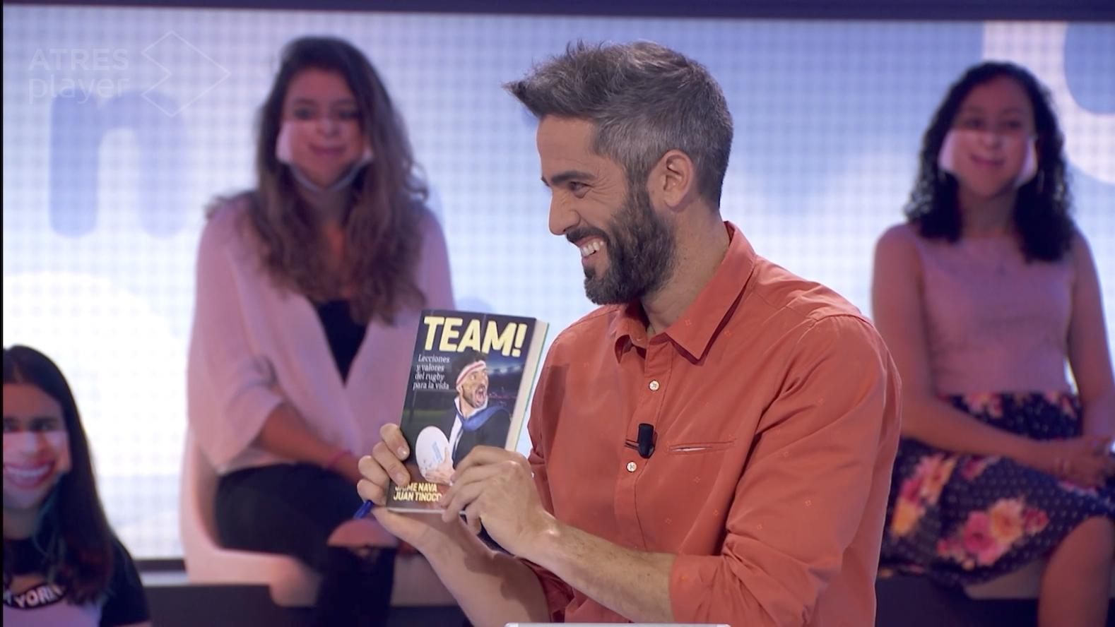 Jaime Nava habla en Pasapalabra de su libro TEAM!